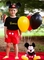 Personalized Mickey Mouse Black Shirt and Red Shorts or Pants Outfit