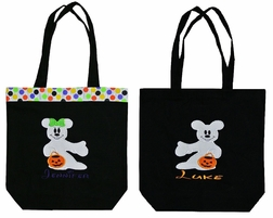 Personalized Disney Minnie Mouse and Mickey Mouse Trick Treat Goody Bags
