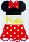 Minnie Mouse Split Body with Name Outfit