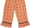 Personalized, Monogram Pumpkin Dress or Outfit in Orange Quatrefoil for Girls
