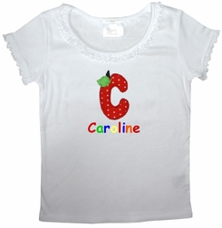 Personalized School Alphabet Name Shirt for Little Girls