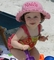 Personalized Baby Sun Hat, Monogrammed Crocheted Hat for Girls