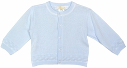 Baby Boy's Blue Button Down Sweater for Fall, Spring, Petit Ami