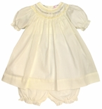 Petit Ami Embroidered Collar Dress and Bloomers in Yellow