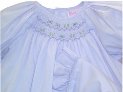 Girl's Lavender Smocked Day Gown by Petit Ami