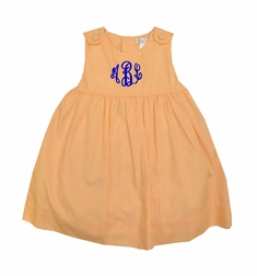 Petit Ami Orange Gingham Dress or Dress and Bloomers