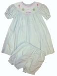 Girl's Smocked Birthday Dress and Bloomers by Petit Ami