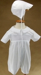 Petit Ami Boy's Smocked Shortall And Matching Hat.