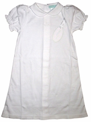 Embroidered Cross Christening Gown with Bonnet for Baby Girls
