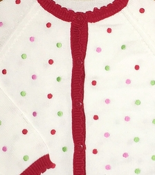 Petit Ami Zubels Christmas Sweater with Polka Dots