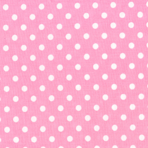 Pink With White Dots Fabric