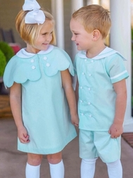 Posh Pickle Monogrammable Mint Aline Dress with Cape Perfect for Easter