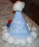1st Birthday Hat for Babies Hand Painted.