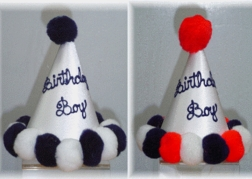 Birthday Boy Hat Hand Painted in 3 Colors by Pretty Little Things.