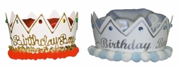 Happy Birthday Hat Crown for Boys, Hand Painted