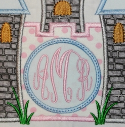 Cinderella Princess Castle Monogrammed Outfit