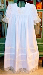 Pure Elegance Heirloom Dress with Monogrammable Pintucks Bodice and English Netting Sleeves