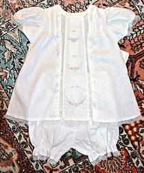 Remember Nguyen Lace and Hand Embroidered Baby Girl Top and Bloomers