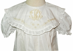 Girl's Heirloom Embroidered Scallop Collar Dress by Rosalina