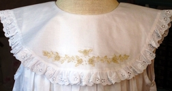 Girl's Heirloom Dress, Sleeveless with Ecru Embroidery by Rosalina