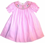 Girl's Smocked Birthday Cake and Presents Pink Birthday Dress by Rosalina.