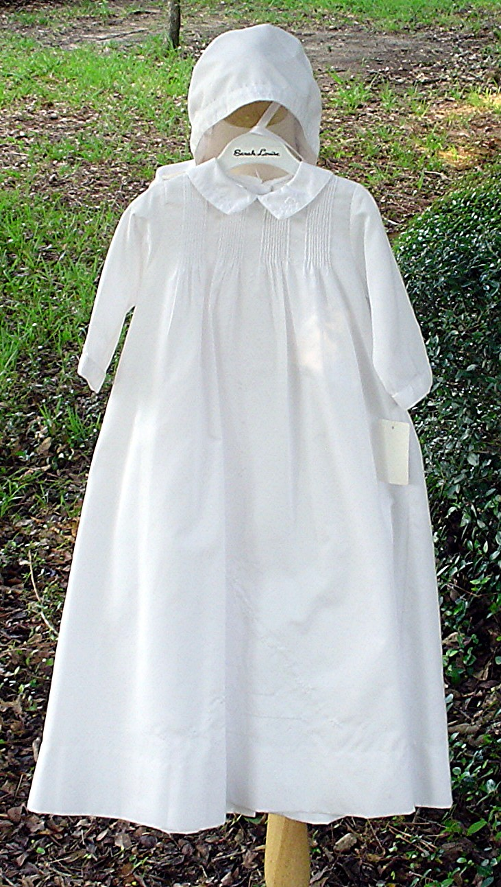 Boy\'s Christening Gown Embroidered by Sarah Louise.