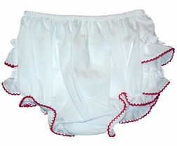 Girl's Ruffle Bloomers with Various Color Trims By Sarah Louise.