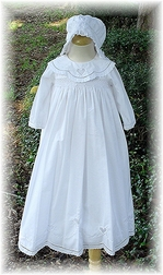 Girl's Christening Gown And Bonnet By Sarah Louise.
