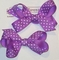 Pony Tail Bows, Set of 2 Dotted Grosgrain Ribbon Bows