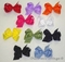 Girl's Hair Bow Made with Grosgrain Ribbon; SMALL