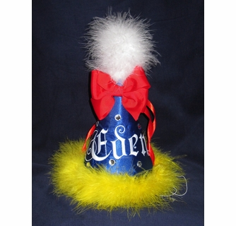 5553ec8deee Snow White Monogrammed Birthday Hat