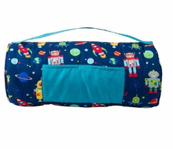 Stephen Joseph All Over Robots Nap Mat for Preschool Day Care Kindergarten and Sleep Overs