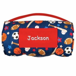 Stephen Joseph All Over Sports Nap Mat for Preschool Day Care Kindergarten or Sleep Overs