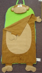 Toddler's And Boy's Monkey Nap Mat By Stephen Joseph.