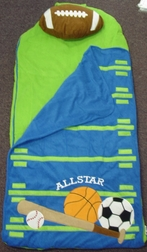 Toddler's And Boy's Sports Nap Mat By Stephen Joseph.