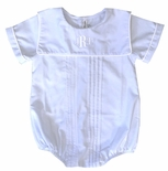 Sweet Dreams Baby Boy's Monogrammable Blue Bubble with Square Collar