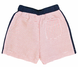 Sweet Dreams Boy's Red Stripe and Navy Swim Suit Swim Trunks