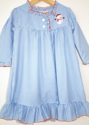 Sweet Dreams Girl's Snowman Night Gown in Light Blue