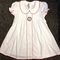 Sweet Dreams Monogrammable White Dress with Red Picot Trim