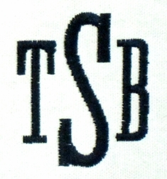 Tall Serif (Initials only)