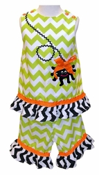 Itsy Bitsy Spider Halloween Girl's Custom Chevron Dress or Outfit