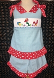 Three Sisters Girl's Smocked Shorts Outfit With Flounder, Ariel and Sebastion the Crab