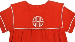 Three Sisters Red Corduroy Monogrammed Longall