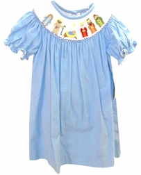 "Three Sisters Smocked Nativity Dress ""Away in the Manger"""