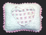 Chenille Tooth Fairy Pillows with Pink Rosebuds