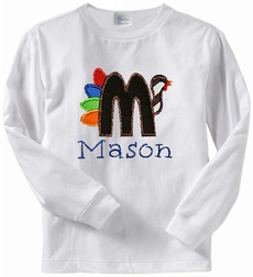 Custom Thanksgiving Turkey Monogram Shirt or Shirt and Pants