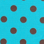 Turquoise with Brown Dots