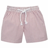 Vive La Fete Boy's Red Stripe Swimsuit Swim Trunks