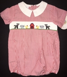 Vive La Fete Boy's Smocked Farm Animals Bubble