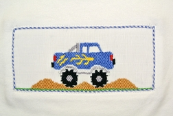 Boy's Smocked Monster Truck Shirt by Vive La Fete